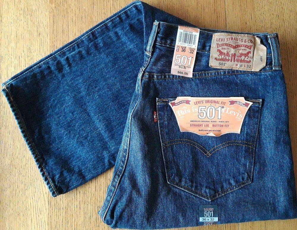 e11b10796 Levi s Jeans 501 BNWT waist 36