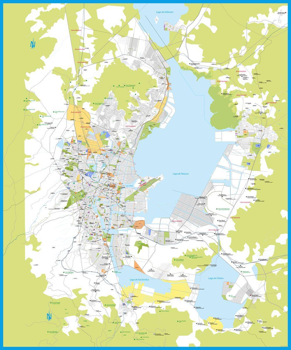 Hypothetical Map Of Modern Mexico City If Lake Texcoco Lago De Texcoco Mapa De Mexico Historia De Mexico