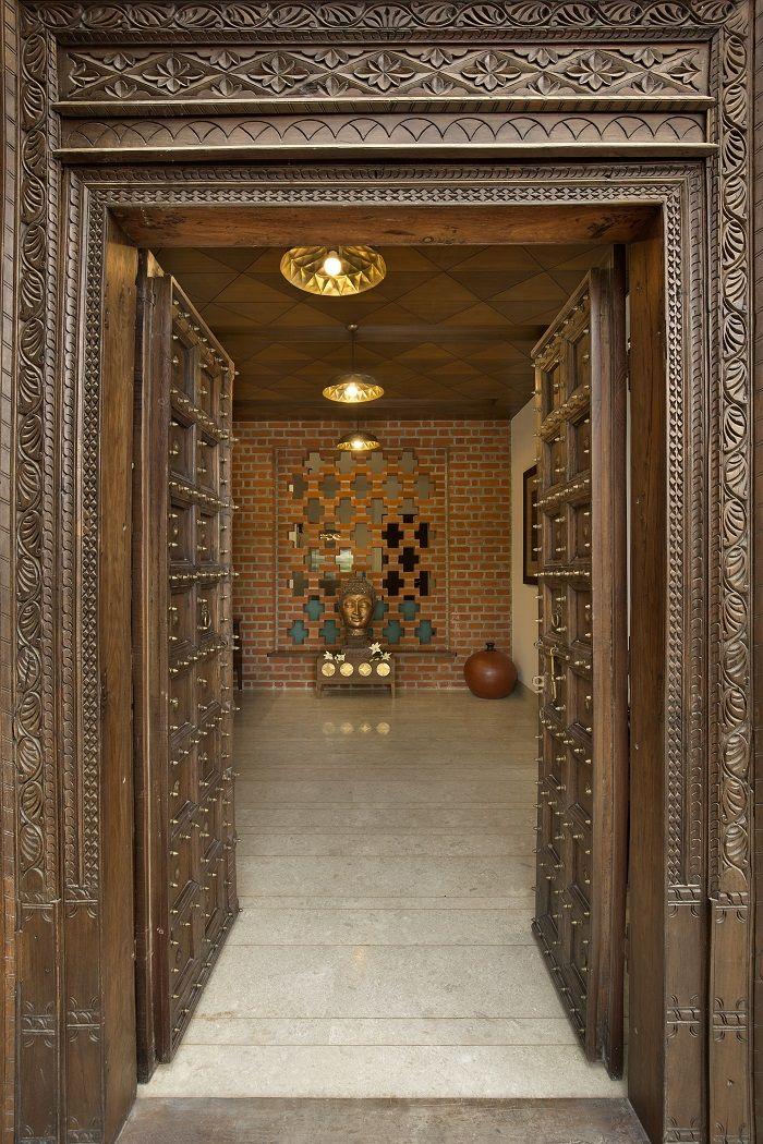 Modern Pooja Doors Google Search: 30+ Traditional & Modern Pooja Room / Mandir Designs (With