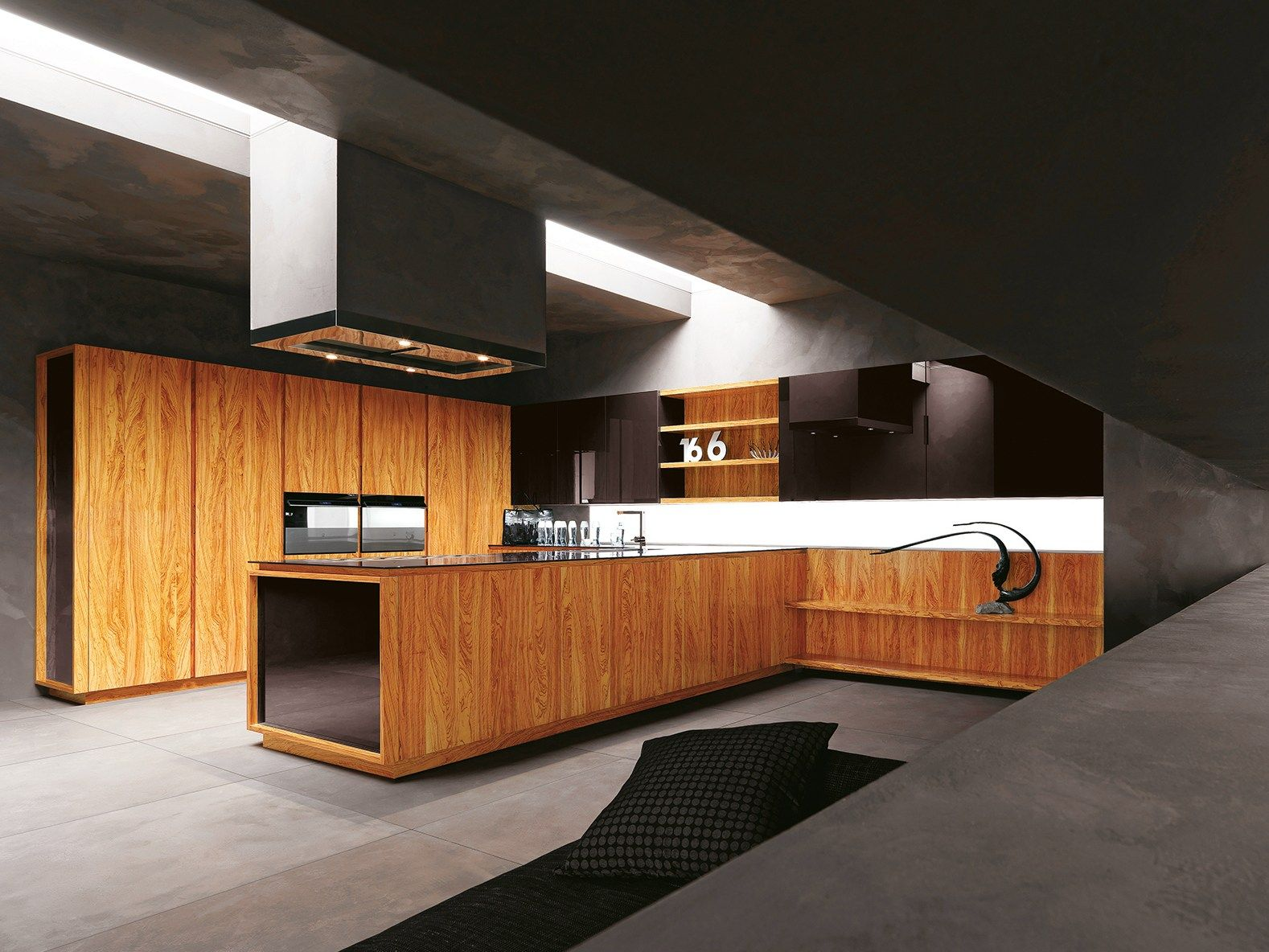 MORE OLIVE WOOD KITCHEN YARA VIP   COMPOSITION 2 BY CESAR ARREDAMENTI |  DESIGN GIAN VITTORIO