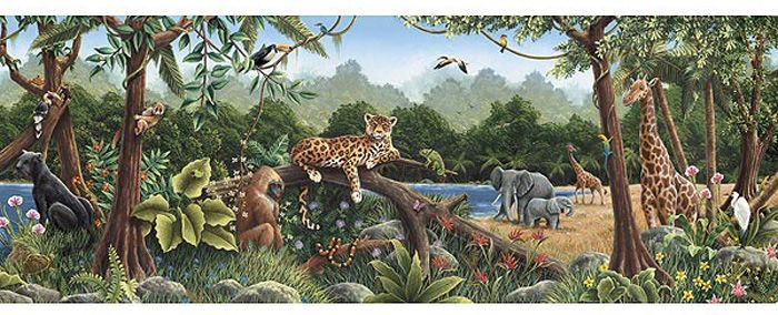 Murals For Kids | Jungle Animals Large Wall Mural Part 92