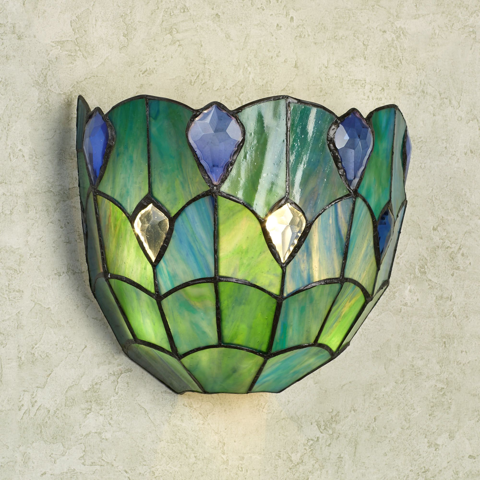 wall w sconce pin walls meyda fusion metro panel stained glass marble