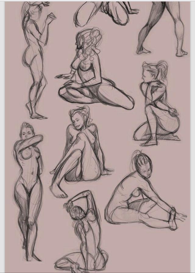 Figure nude | figura femenina | Pinterest | Anatomía, Dibujo y ...
