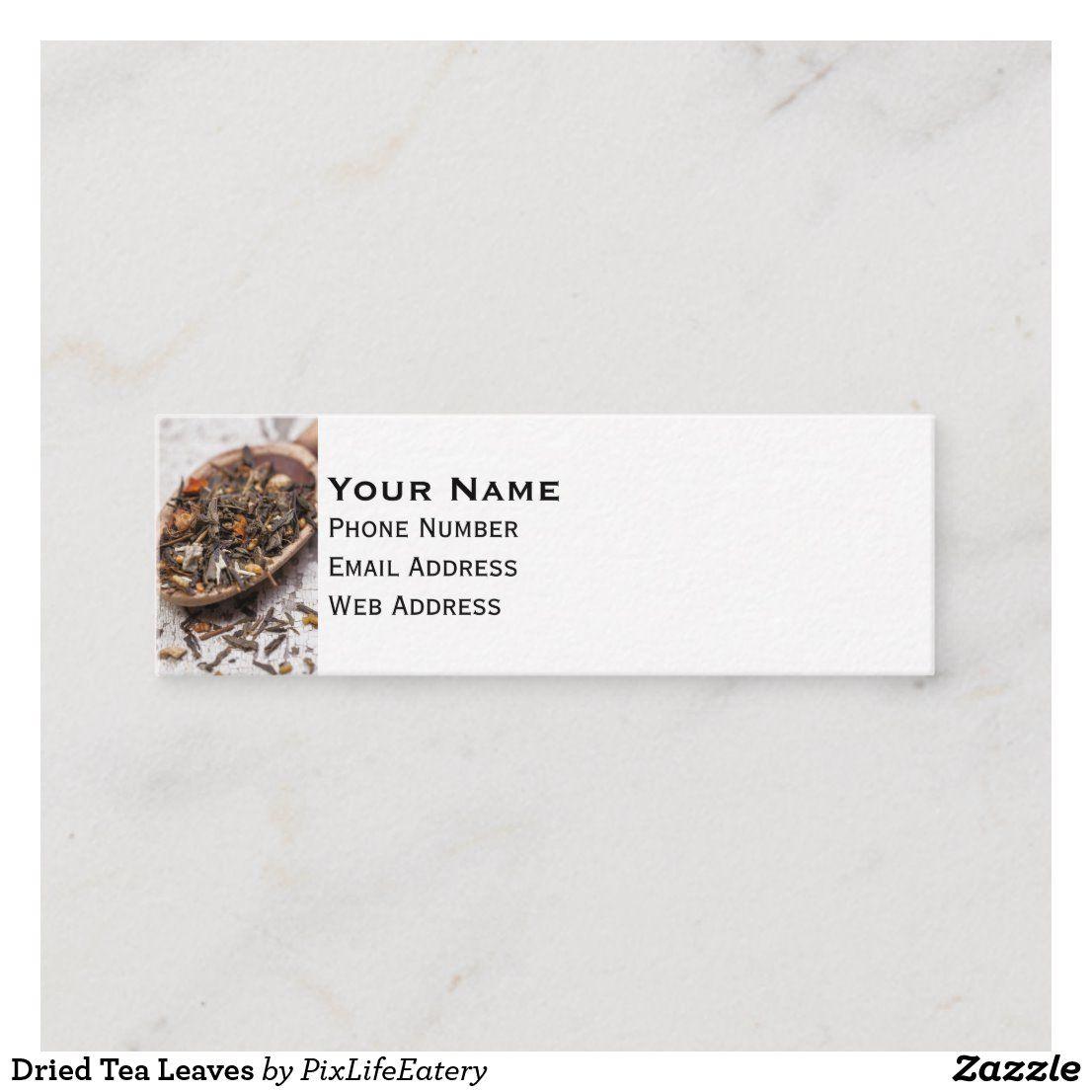 Dried Tea Leaves Mini Business Card Zazzle Com Mini Business Card Tea Leaves Business Cards