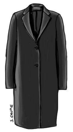 c7363a3b08e211 Eine Puristin wird diesen Mantel lieben. Ob Sie eine Puristin sind