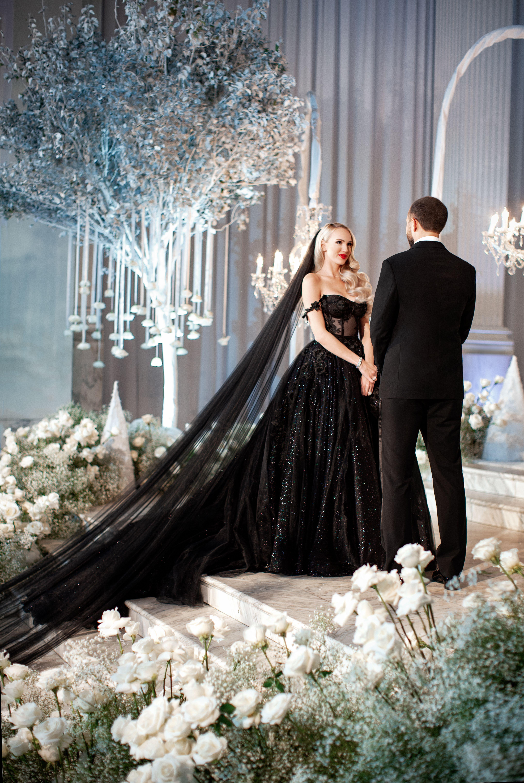 Galia Lahav Black Bridal Sparkle Ballgown Christine Quinn In 2020 Black Wedding Dresses Black Wedding Gowns Gothic Wedding Dress