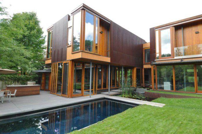 Lu0027acier Corten - modernité pour lu0027intérieur et lu0027extérieur - Archzinefr - location chalet avec piscine interieure