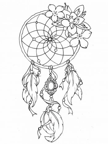 Art Meditation 18 Free Coloring Pages For Adults Lonerwolf Dream Catcher Tattoo Design Dreamcatcher Tattoo Dream Catcher Tattoo