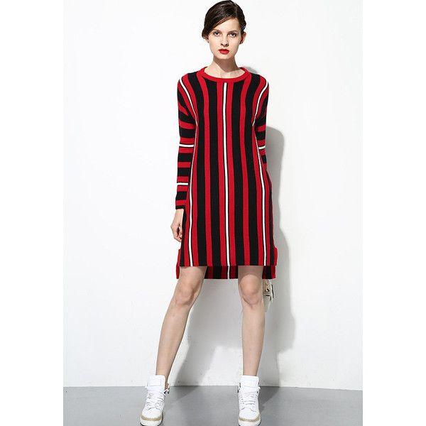 6f145d363 Multi-color Stripes Sweater Dress