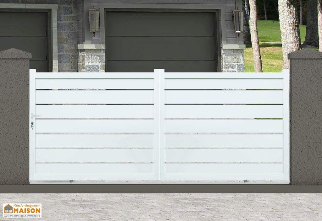 Portail Aluminium Coulissant Dallas H 1 70 M Blanc Pls Dimensions