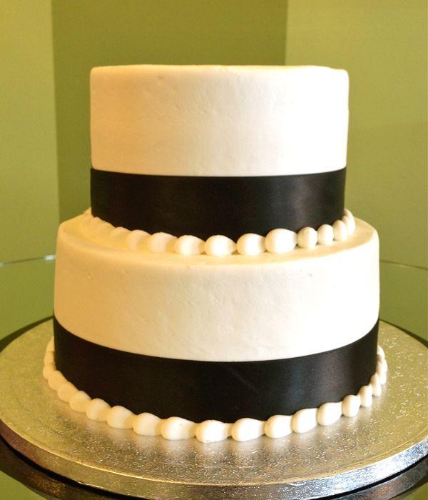 Ribbon Tiered Cake – Black White | For Abby | Pinterest | Ribbon ...