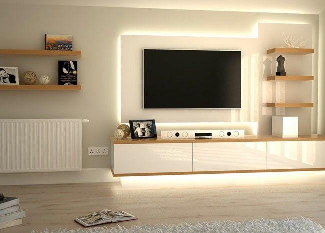 Cool idea to back light the tv Home decor Pinterest TVs