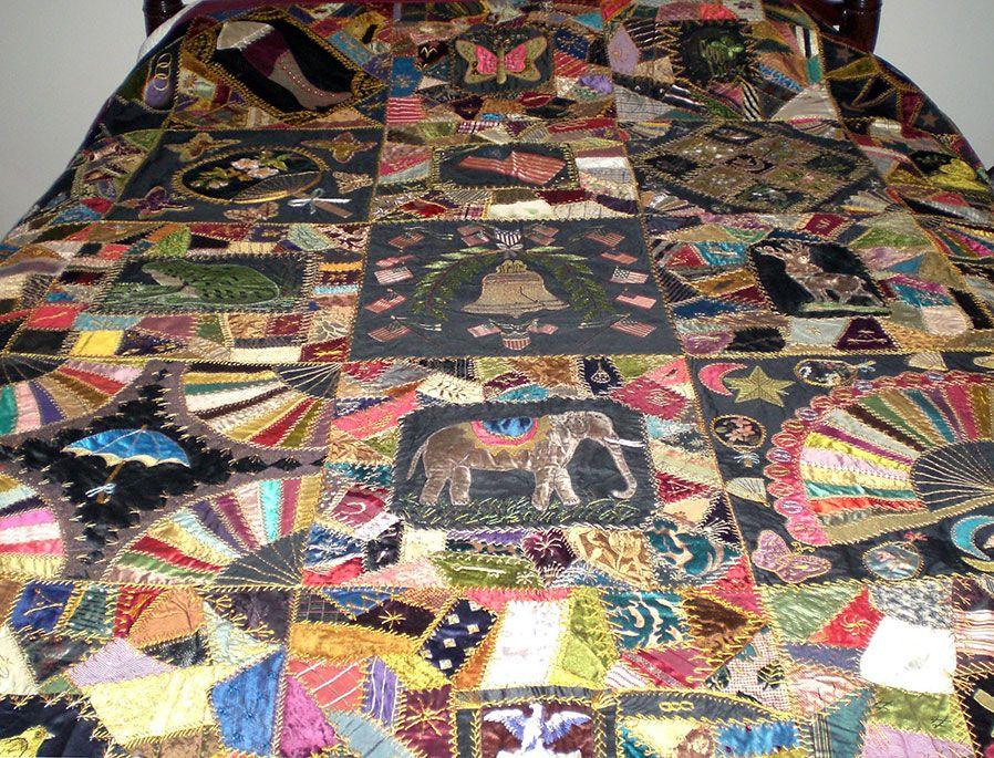 Victorian Quilt Designs Antique Victorian Crazy Quilt