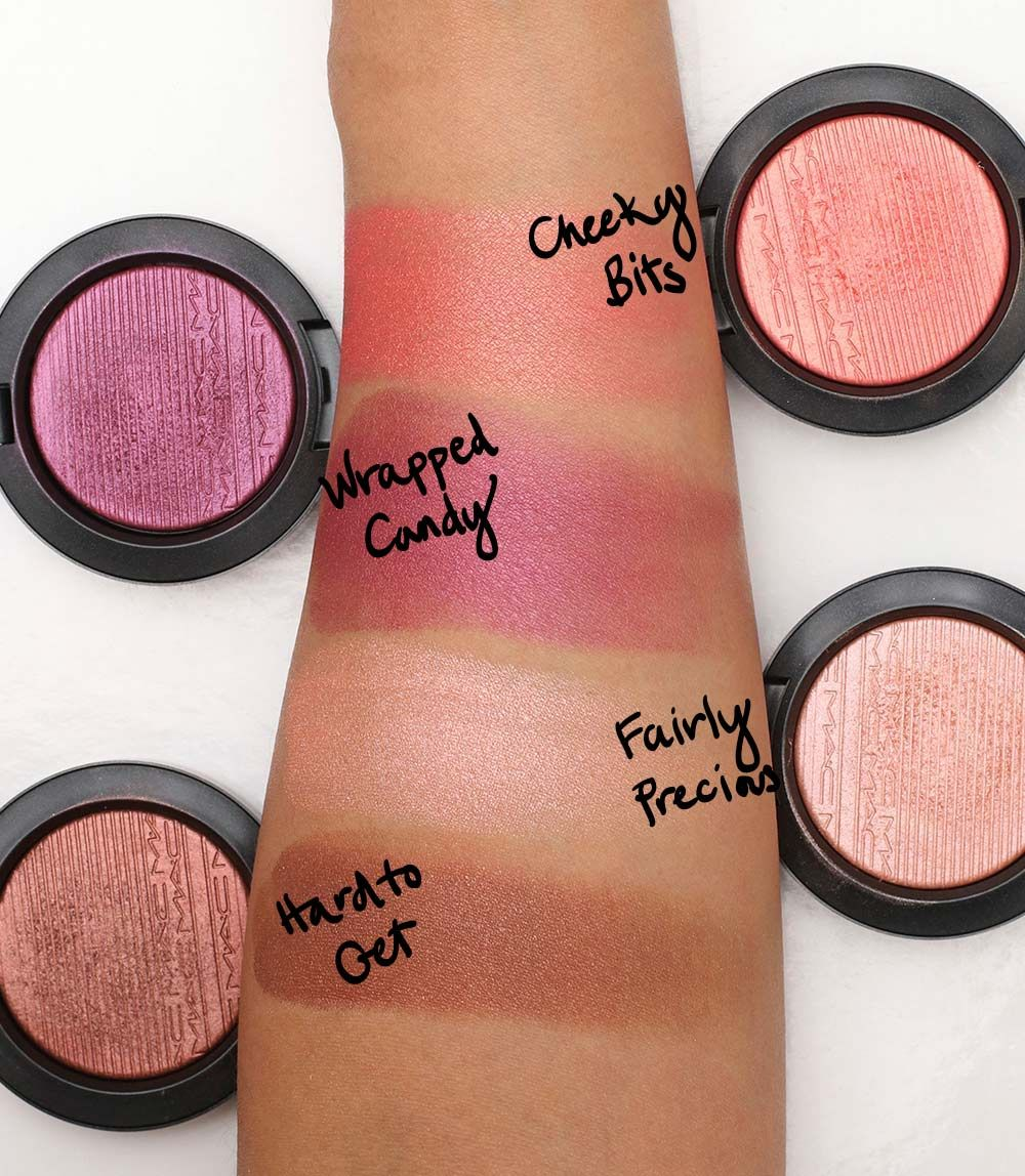 MAC extra dimension blush swatches 2 - Cheeky Bits is not ...