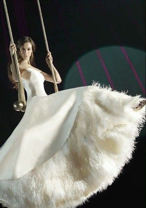 Barcelona designer: Teresa Helbig Ostrich Feather Gown