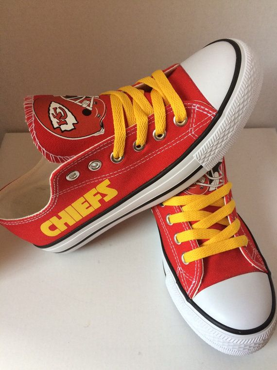 Hey, I found this really awesome Etsy listing at https://www.etsy.com/listing/231237002/kansas-city-chiefs-tennis-shoes-please