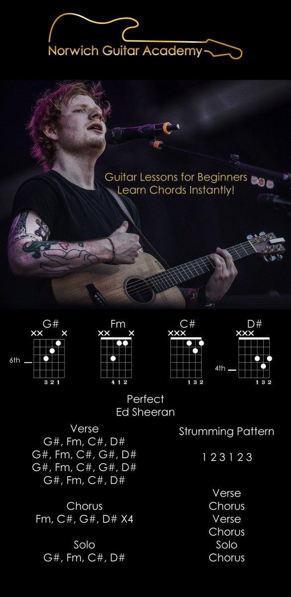 Perfect - Ed Sheeran Chords Beginner Guitar Lesson (Lyrics ...