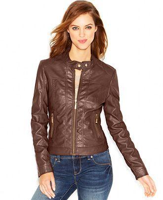 Jou Jou Juniors Faux Leather Moto Jacket Reviews Coats Women Macy S Faux Leather Moto Jacket Leather Jackets Women Faux Leather Jacket Women