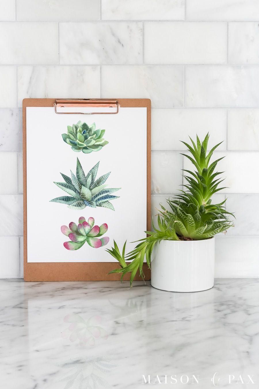 Free Printable Succulent Wall Art | Succulent wall art ...