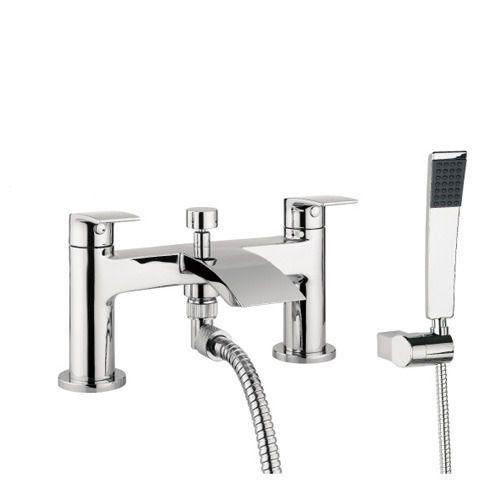 Flow Deck Mounted Shower Mixer Tap   Bath shower mixer ...