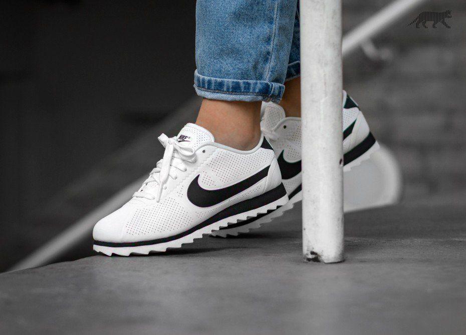 Nike Wmns Cortez Ultra Moire (Summit White / Black - Black)