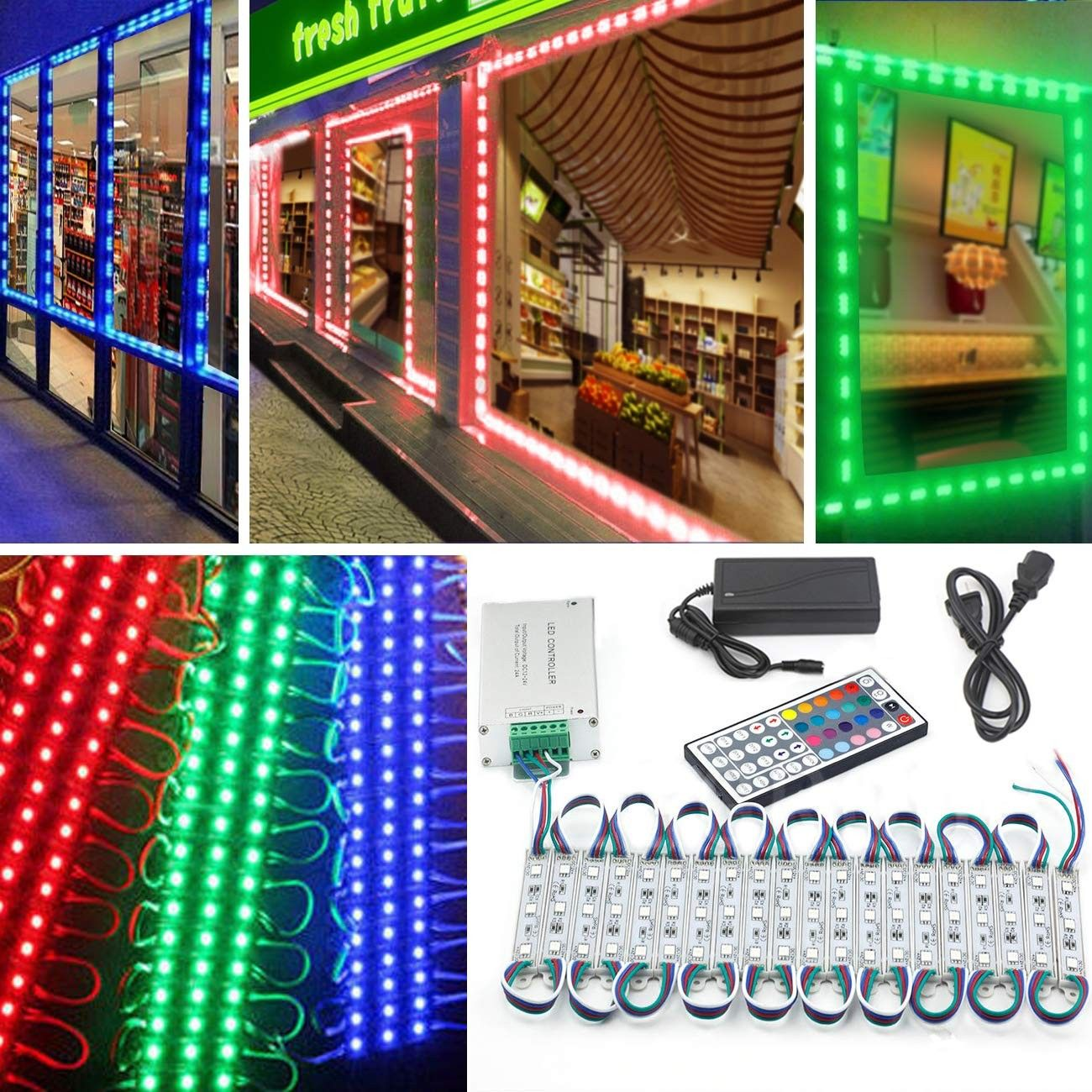 Led Storefront Lights 10ft 20 Pieces Waterproof Decorative Light For Letter Sign Advertising Signs Led Light Module Led Module Store Front Window Sign Strip Lig Light Decorations Window Signs Store Front Windows