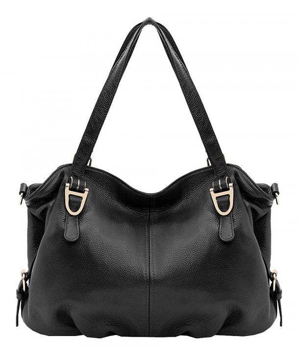Leather Shoulder Handbags Vintage Satchel - Black - CR184SYKDWX Leather Shoulder Handbags Vintage Satchel - Black - CR184SYKDWX  #hobo #bags #handbags #style #gift  #Shoulder #Handbags #Vintage #Satchel #-