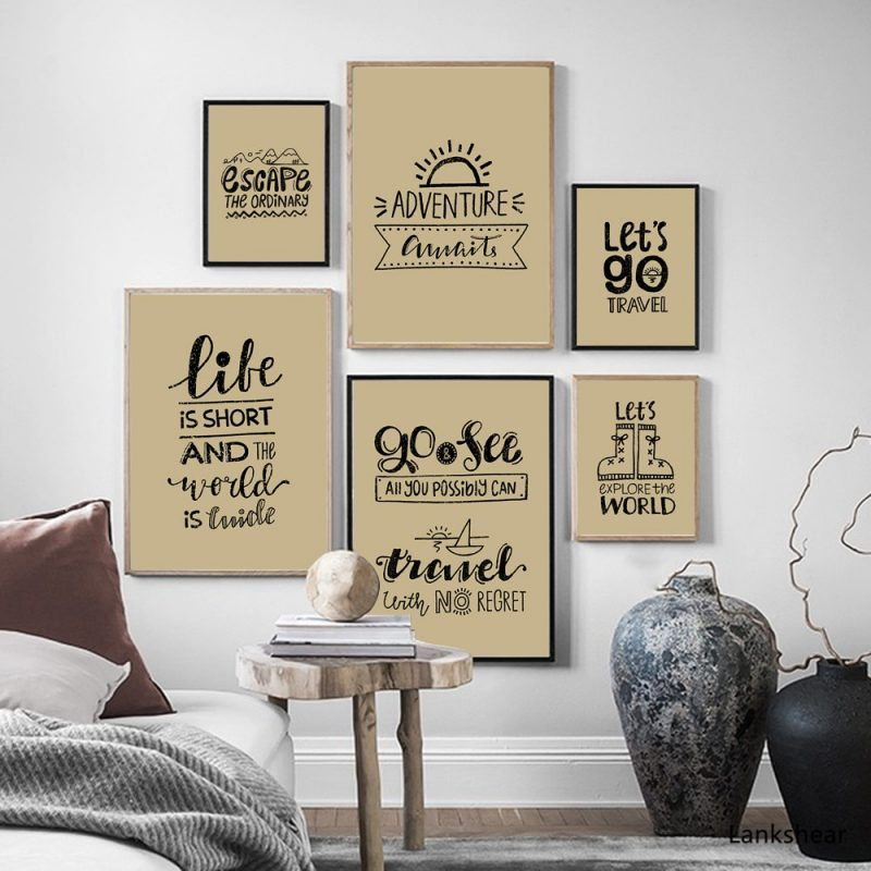 Travel Funny Quote Poster Vintage Wall Art Canvas Painting Nordic Posters And Prints Wall Pictures Baby Kids Room Home Decor Wall Art Decor Living Room Kid Room Decor Kids Room Wall