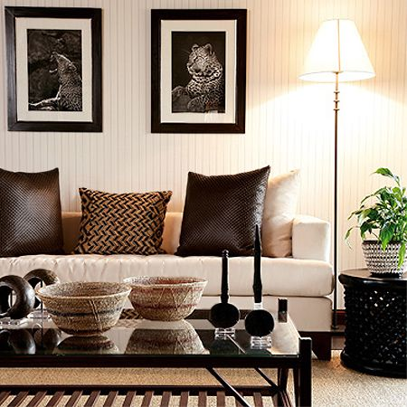 Modern contemporary african theme interior decor design for Modern home decor pieces
