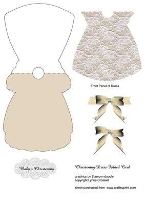 Lace Christening Dress Card Dress Card Christening Cards Christening Invitations Girl