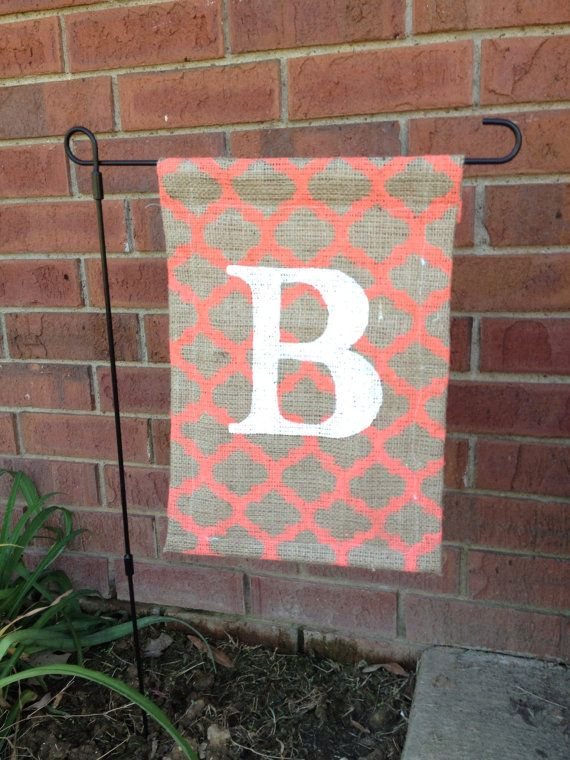 burlap garden flag. Custom Burlap Monogram Garden Flag By TheDeltaBelle On Etsy