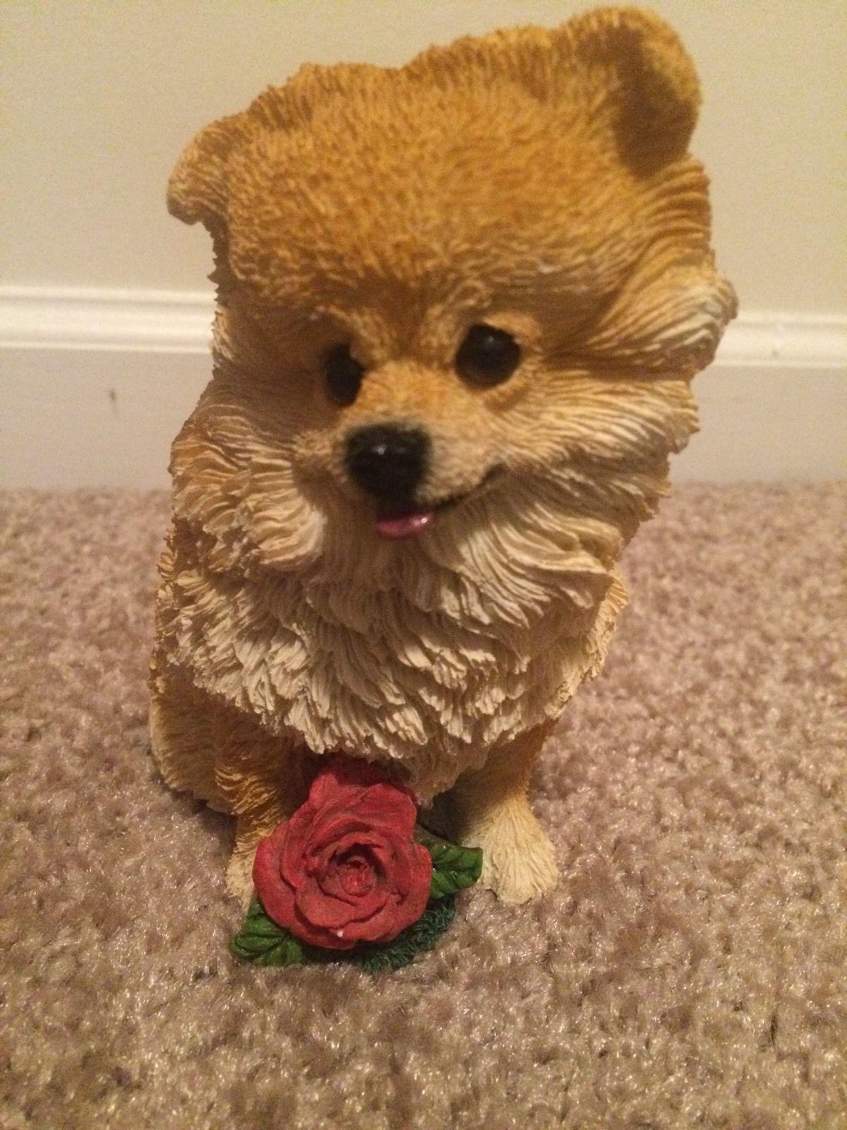 Pomeranian Figurine Dog Statue Ebay Pomeranian Figurines