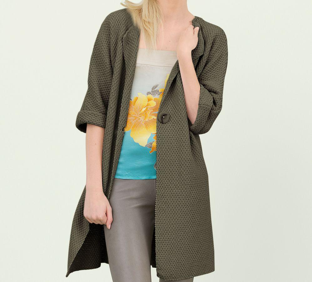 Modèle veste longue Fil Cabotine Femme - Modèles Femme - Phildar ... 7f42488bf2db