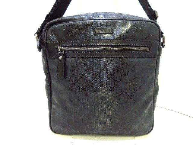 012e1a51f Auth GUCCI Imprime 201448 Black PVC Shoulder Bag (eBay Link) Fashion  Jewellery, Shoulder