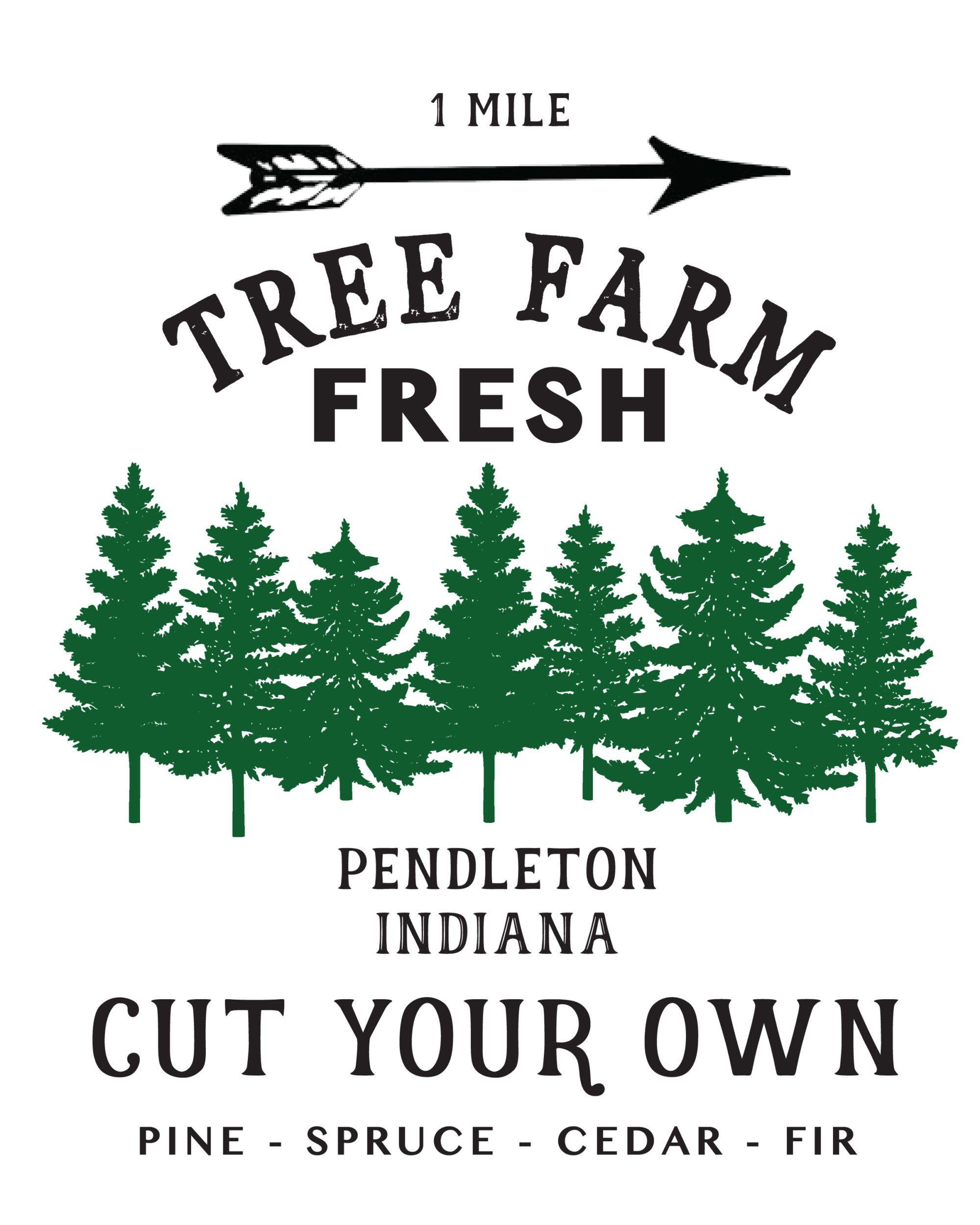 Free Editable Christmas Tree Farm Sign   \