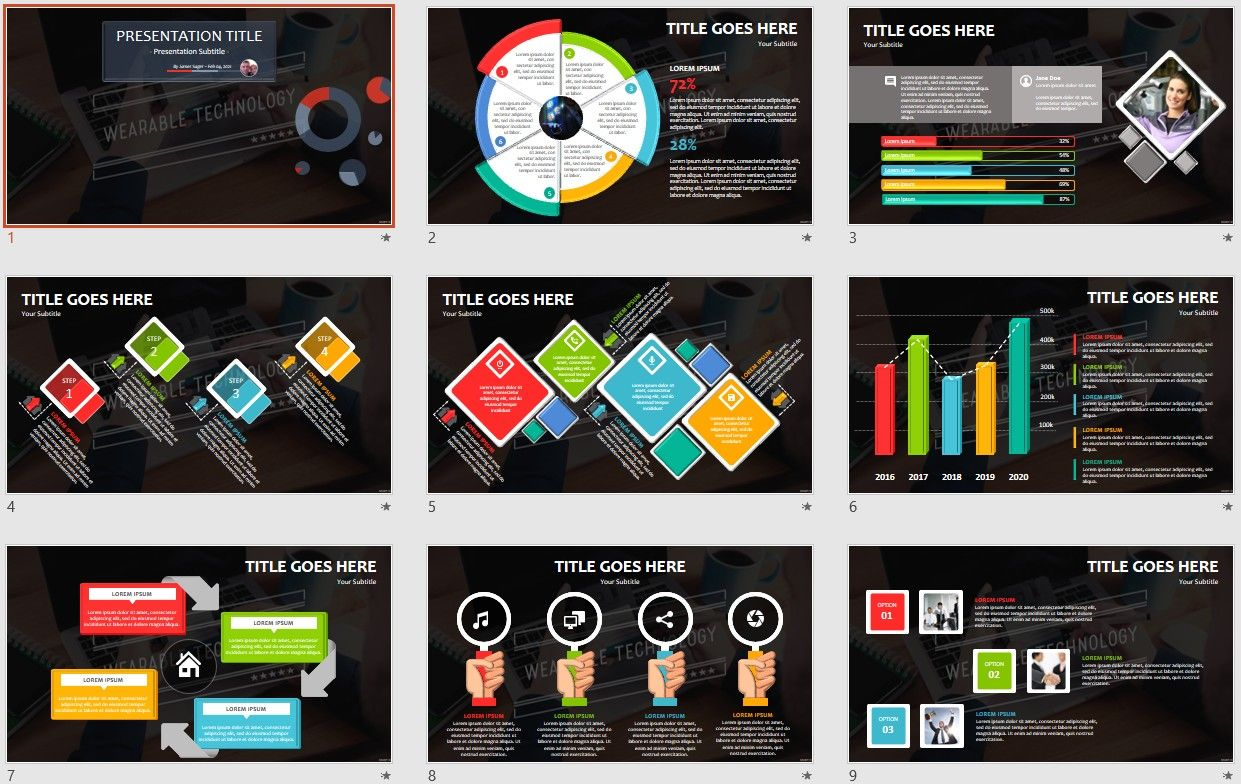 Wearable Technology Powerpoint Free Powerpoint Templates By