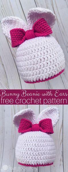 Bunny Hat With Ears Free Crochet Pattern | Crochet | Pinterest ...
