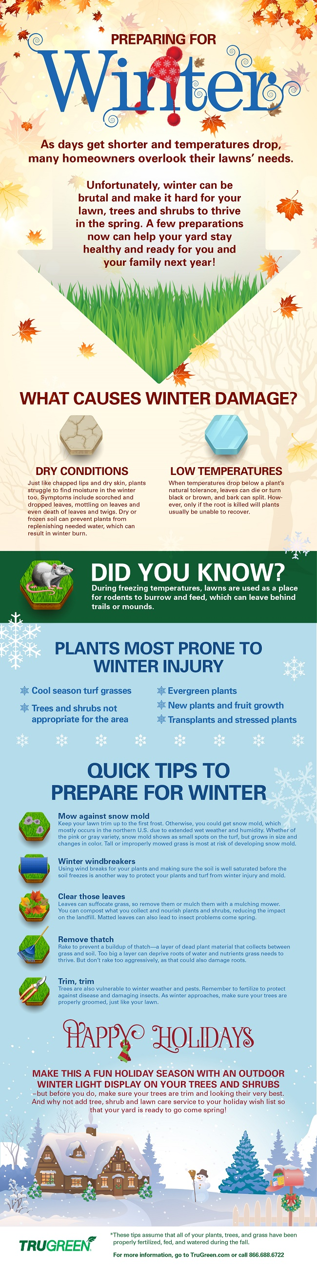 Did you know that you still need to take care of your #lawn in the #winter? Check Out These Winter #LawnCare #Tips From TruGreen + #Infographic #sponsored #MC #TruGreen http://cheapisthenewclassy.com/2014/12/winter-lawn-care-tips.html