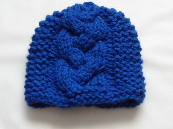 Knit Cable Hat  winter hat  Boy Hat Hand knit cable hat by Ifonka, $28.00