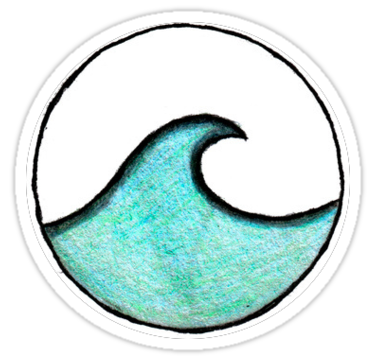 """""""circle wave """" Stickers by natatat 