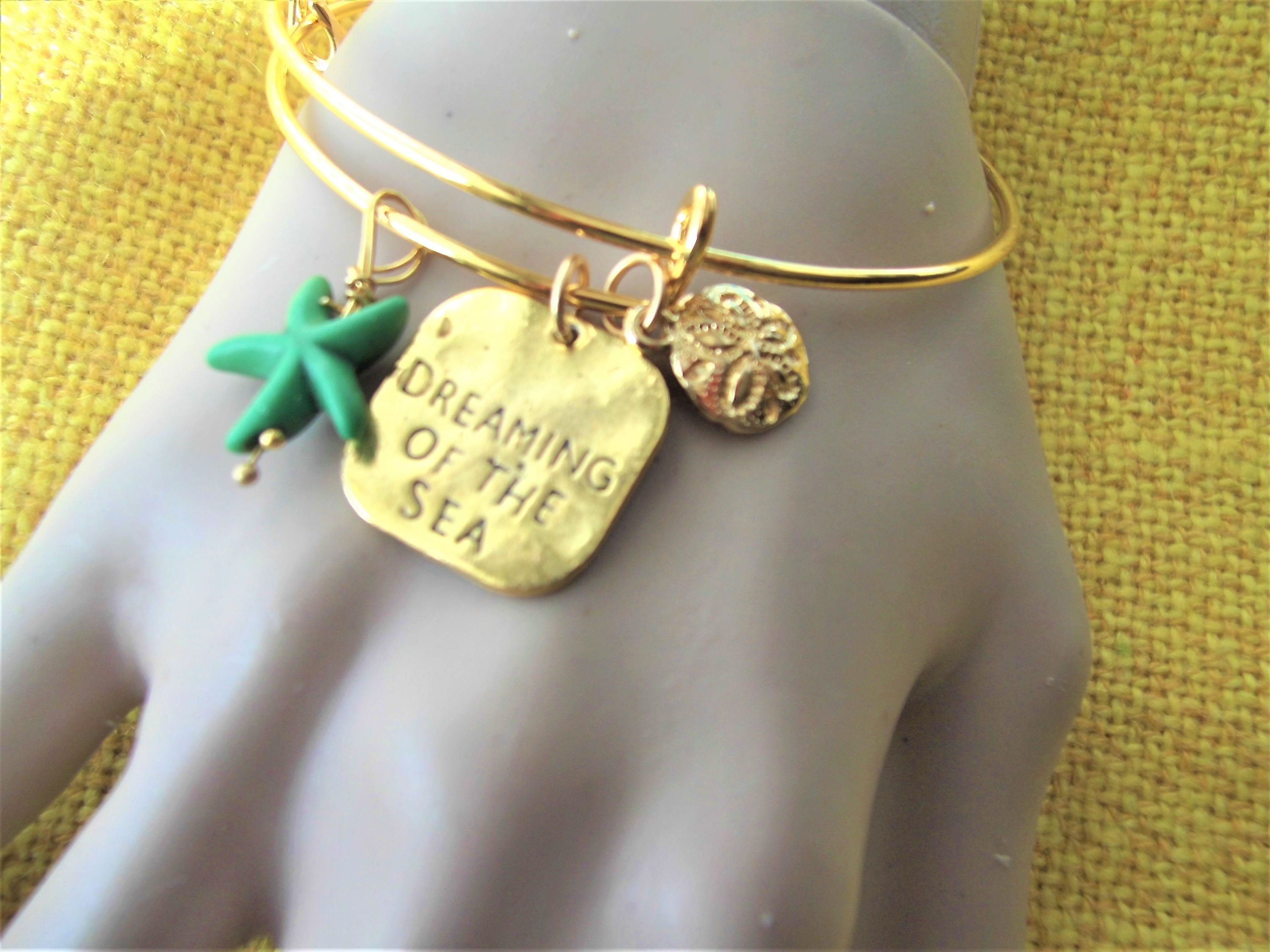 bracelet bangle bracelets gold charm bangles charms claire s life sea