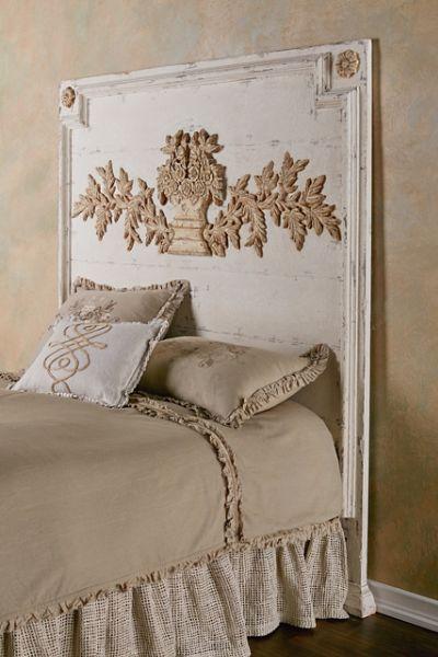 Burgundy Headboard French Country Furniture Luxury Bedding
