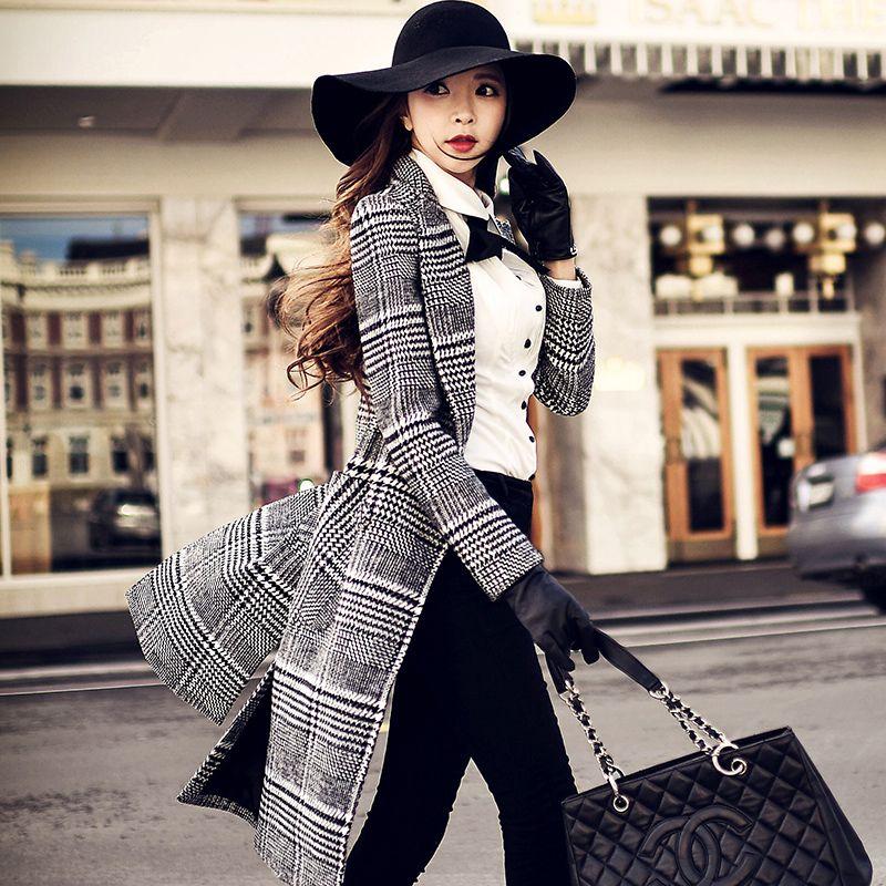 dabuwawa woolen jacket women 's long 2016 fall winter army style ...