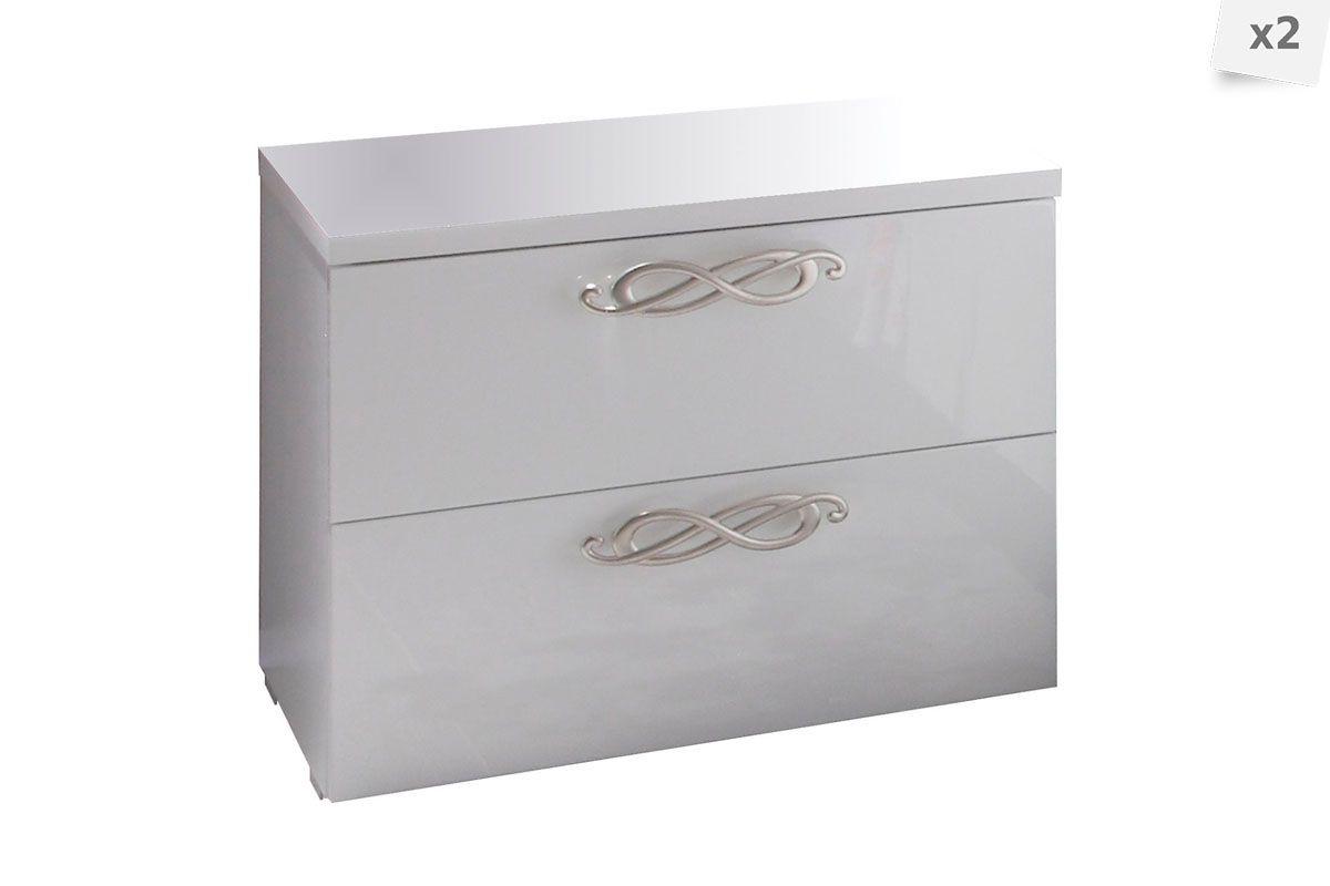 hello juai pens toi juai trouv tables de chevet tiroir leonor blanc laqu brillant design italien. Black Bedroom Furniture Sets. Home Design Ideas