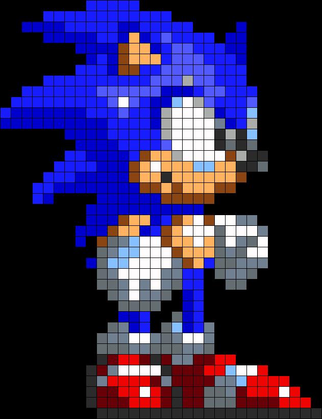 Classic Sonic By Vickicutebunny On Deviantart Pixel Art Grid Perler Bead Art Pixel Art