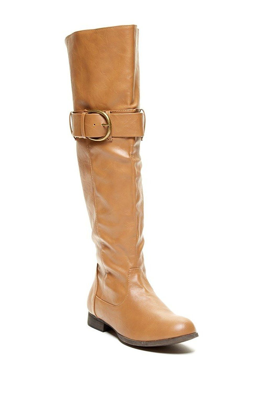 Charles Albert Damens's Tall Riding Riding Riding Boot with Buckle Accent ... 9308bd