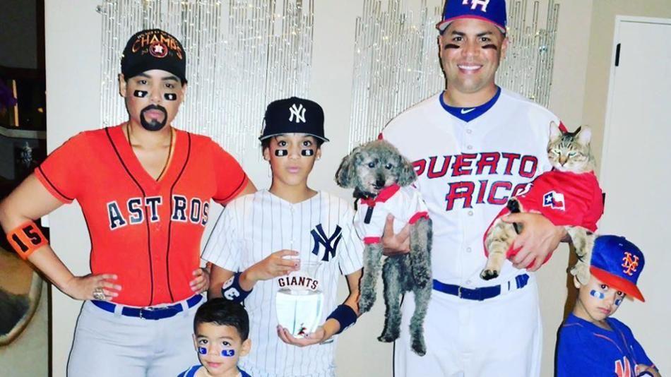 Carlos Beltran S Family Represents Teams For Halloween Mlb
