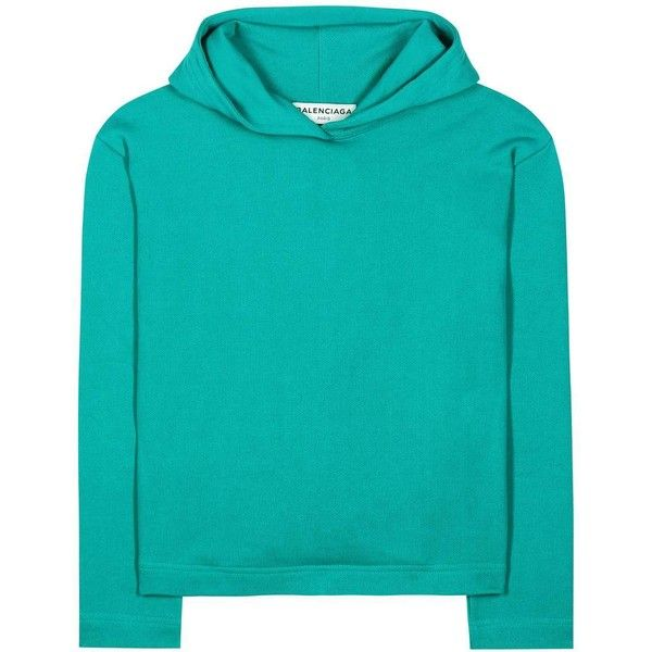 b620fda60b44d9 Balenciaga Cropped Hoodie ( 555) ❤ liked on Polyvore featuring tops ...