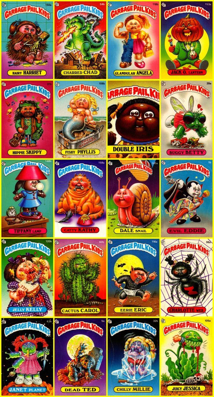Pin By Valisha Gordon On Vintage Toys Garbage Pail Kids Garbage Pail Kids Cards My Childhood Memories