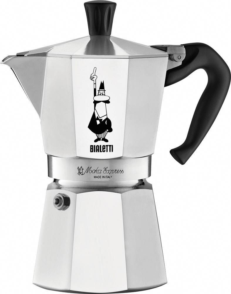 Bialetti moka express espresso makercup coffee maker silver